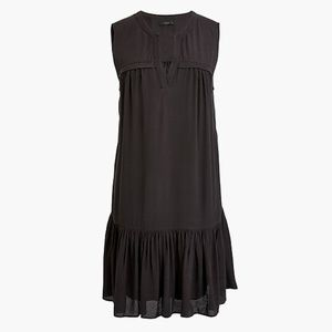 J. Crew Ruffle-hem shift dress